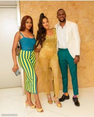 BBNaija Stars, Kim Oprah And Omashola Pose With Jamaican Singer, Nyanda